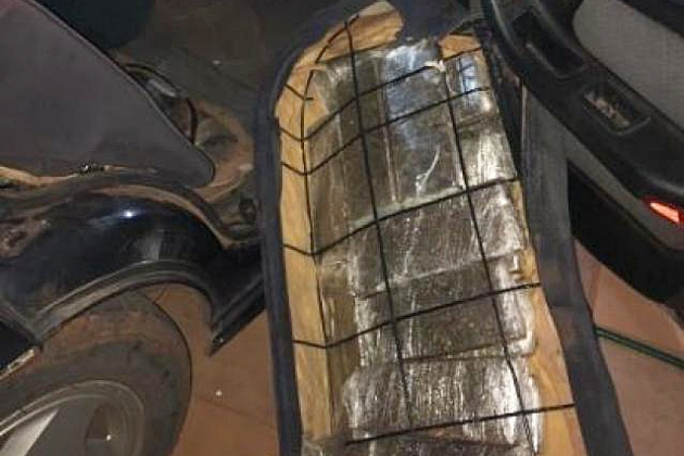 Cearense levava 67,8 kg de maconha em fundo falso