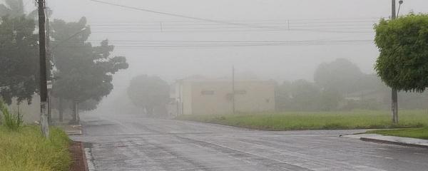 Sidrolândia amanhece com chuva nesta quarta-feira de cinzas; frente fria chega ao Estado