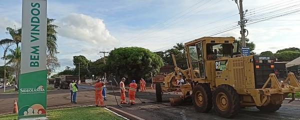DNIT começa correção do pavimento antes de aplicar lama asfáltica na Avenida Dorvalino