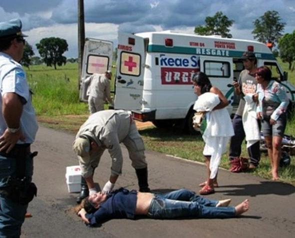 Acidente deixa mulher ferida na MS 156 em Amambai