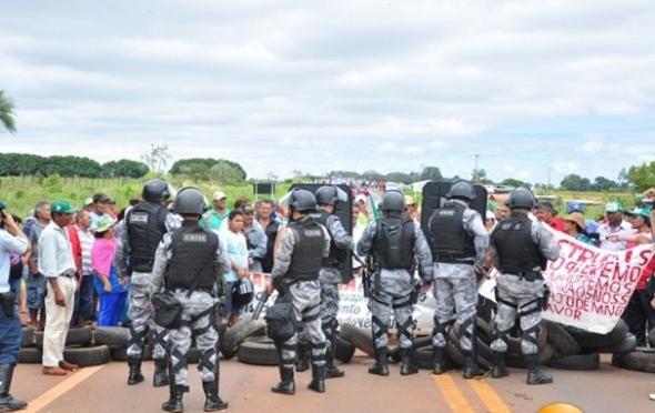 Tropa de Choque desmobiliza protesto de sem-terra e MS/060 é liberada