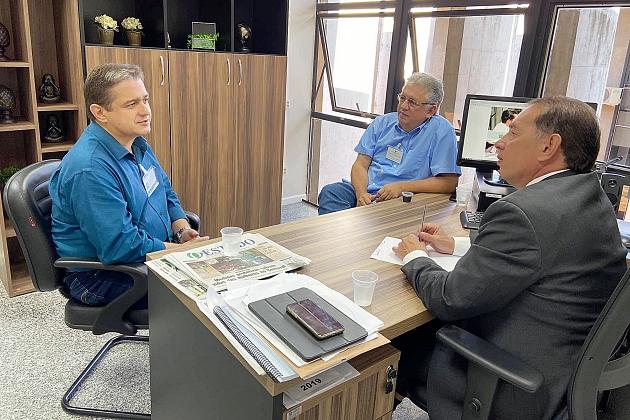 Prefeito e Gerson Claro debatem sobre obras que o Governo do Estado vai executar em Sidrolândia