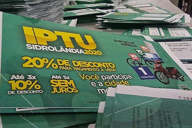 Prefeitura prorroga até 11 de maio pagamento do IPTU com desconto de 20%