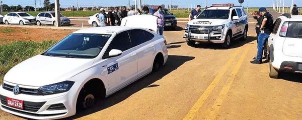 Veículo de taxista teria sido encomendado por receptador em Sidrolândia
