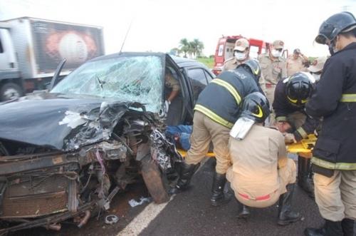 Identificados feridos em acidente que matou um na BR-262 em Campo Grande