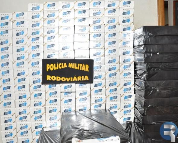 Polícia Rodoviária Estadual faz apreensão de 450 pacotes de cigarros na MS/162