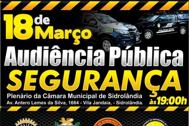 Conselho de Segurança de Sidrolândia promove audiência pública no dia 18 de março