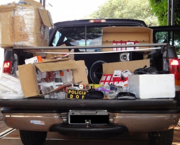 DOF apreende 510 telefones em meio a contrabando