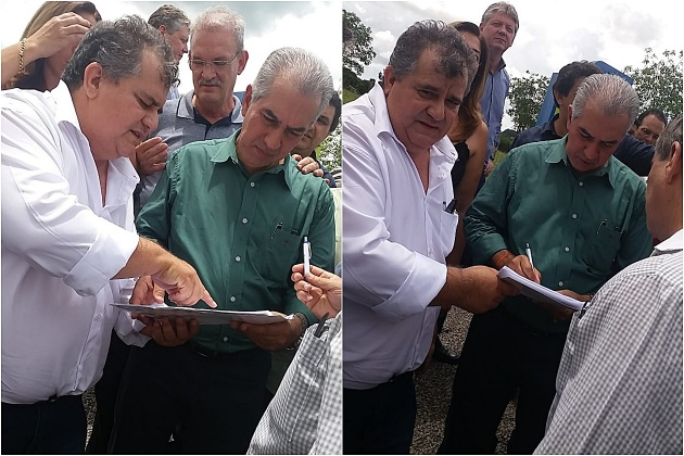 Comunidade do Quebra Coco entrega a Reinaldo abaixo-assinado em que cobra reativação de posto policial
