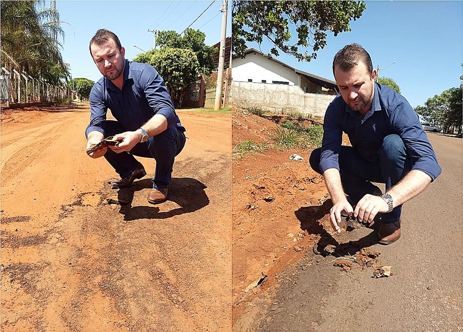 Prefeitura vai vistoriar qualidade de asfalto do Sol Nascente alvo de denúncia na Câmara