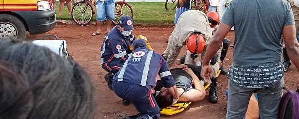 Jovem vítima de acidente neste domingo tem quadro clínico estável