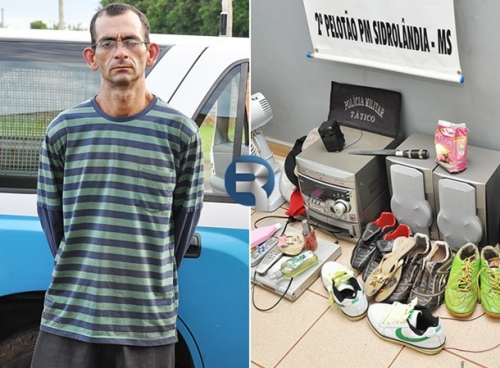 Pela segunda vez homem é preso pelo crime de furto em Sidrolândia