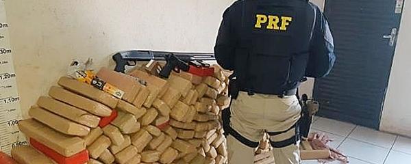 PRF apreende na BR-060, 505 quilos de maconha transportados em Jeep Renegade