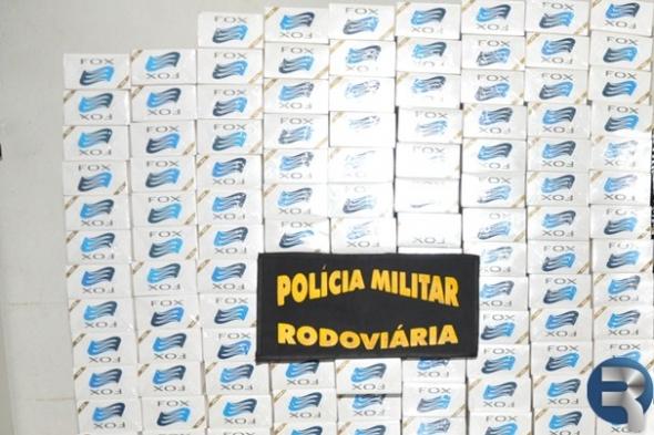 PRE apreende na MS-060 em Sidrolândia 325 pacotes de cigarros