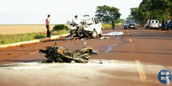 Acidente na rodovia entre Dourados e Fátima mata motociclista