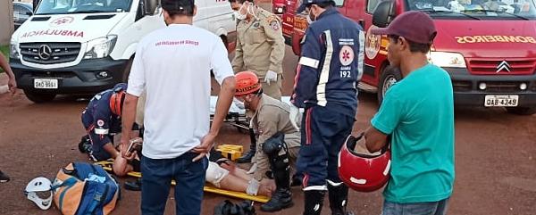 Ciclista sofre fraturas ao ser atingida por Omega no Cascatinha