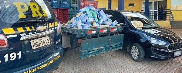 PRF apreende 195,5 kg de maconha durante operação em Sidrolândia