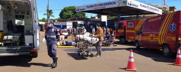 Avenida Dorvalino dos Santos novamente é palco de acidente de trânsito