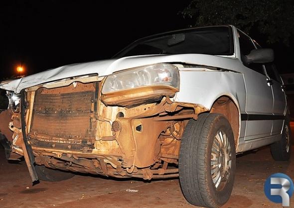 Acidente no centro de Sidrolândia deixa motociclista em estado grave
