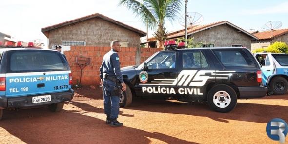 """Polícia Militar fecha """"boca de fumo"""" no Bairro Dona Diva em Sidrolândia"""