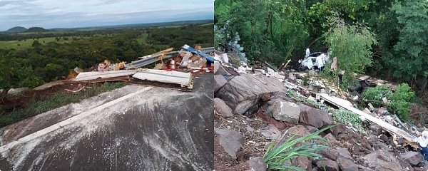 Acidente na Serra de Maracaju deixa motorista de caminhão em estado grave