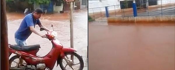 Chuva forte provoca transtornos e pontos de alagamento