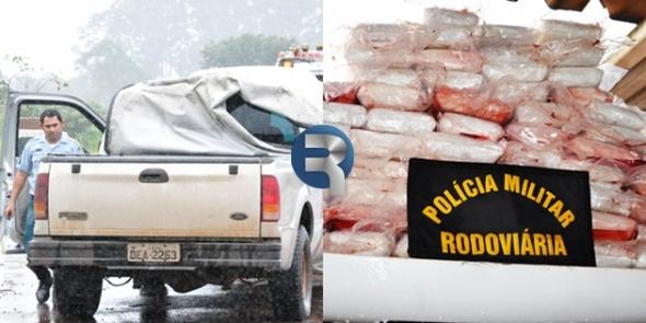 PRE faz maior apreensão de pasta base de cocaína da história em Sidrolândia