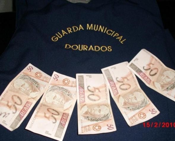 Homem é detido pela GM de Dourados portando notas falsas