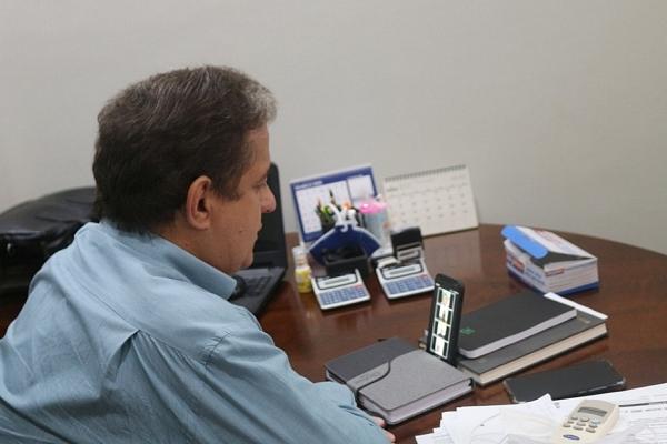 Em reunião com Judiciário e MP, prefeito detalha as ações realizadas em Sidrolândia