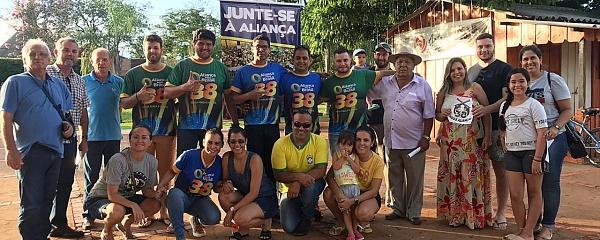 Apoiadores da criação do partido Aliança pelo Brasil fazem ato para colher assinaturas em Sidrolândia