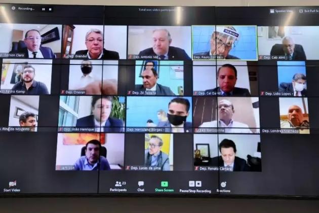 Debate eleitoral perde espaço nas sessões virtuais da Assembleia