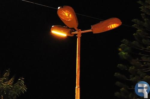 Pane elétrica deixa Praça Central às escuras em Sidrolândia