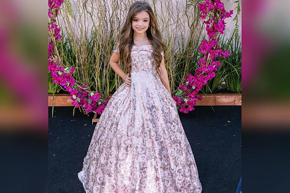 Menina de 8 anos representa Sidrolândia em concurso de Miss e faz sucesso nas redes sociais