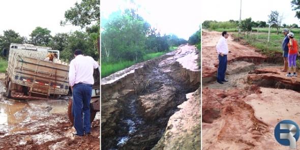 Chuva isola zona rural e pioram condições de vida em Assentamentos