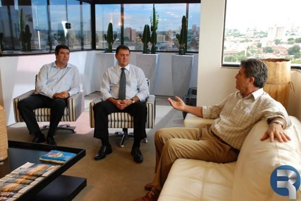 Longen e Riedel discutem com Zauith ações de desenvolvimento para Dourados