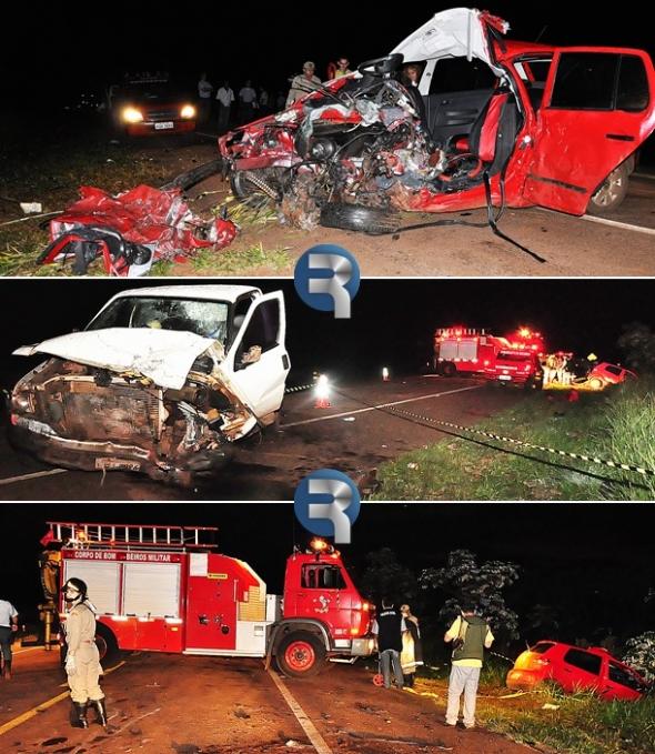 Tragédia: Dois mortos e três feridos em colisão na MS-060