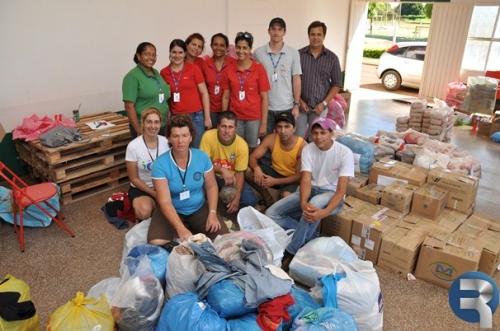 Sidrolândia envia mais de 1 tonelada de donativos as vítimas do Rio