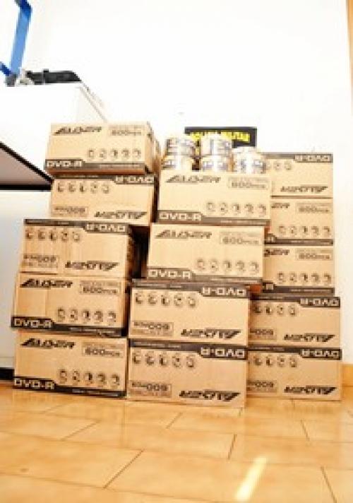 24 mil DVDs contrabandeados são apreendidos pela PRE de Sidrolândia