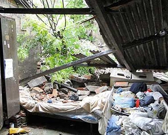 Chuva causa desabamento e interdição de casas em Corumbá