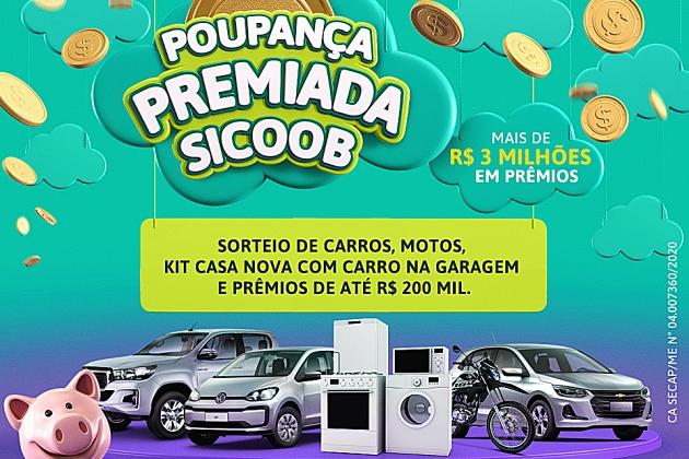 Promoção do Sicoob distribuirá mais de R$ 3 milhões em prêmios