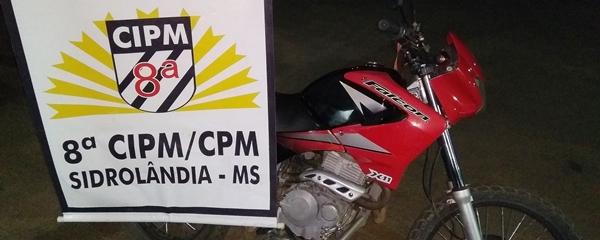 PM recupera motocicleta furtada em Campo Grande após perseguição a receptador