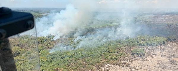 Dispara o número de focos de incêndio no mês de abril em Mato Grosso do Sul