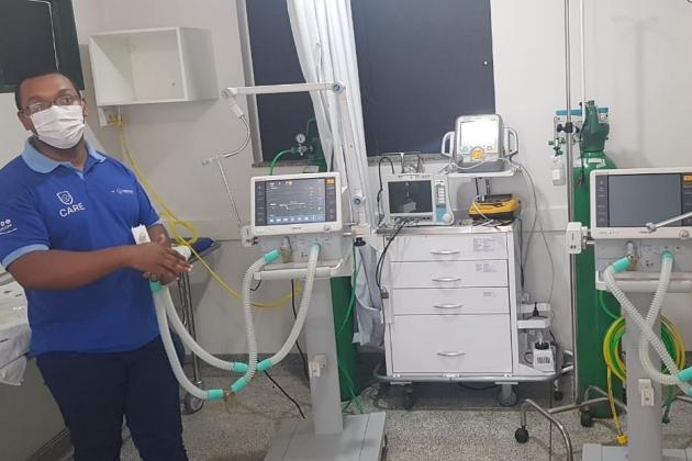 Hospital recebe respiradores e  começa treinar funcionários
