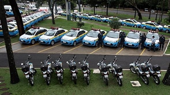 Viaturas e motocicletas reforçam segurança na Capital e interior do Estado