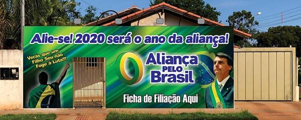 Aliança Pelo Brasil inaugura domingo escritório em Sidrolândia