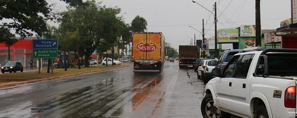 Sidrolândia tem temperatura amena e chuva na manhã desta quarta-feira