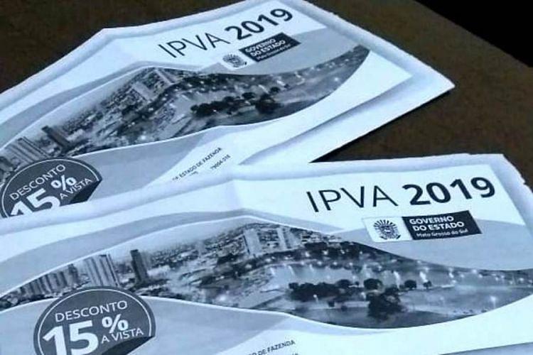 Prazo para pagamento à vista do IPVA com 15% de desconto termina no dia 31
