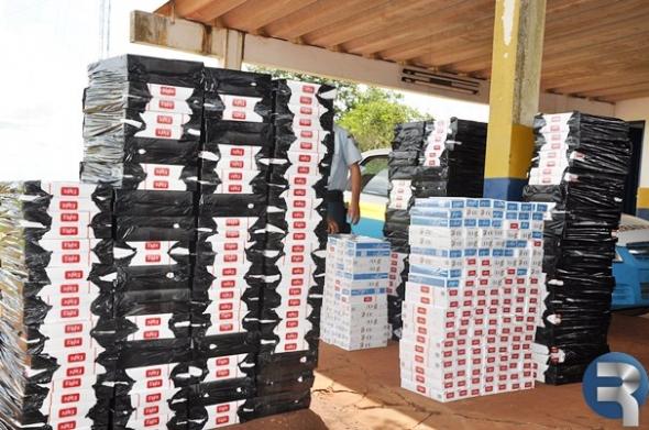 PRE faz apreensão de 1.250 pacotes de cigarros na MS-060 em Sidrolândia