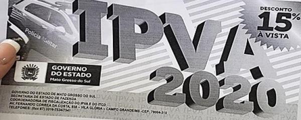 Contribuintes começam a receber os carnês do IPVA 2020