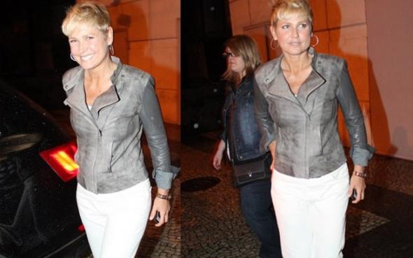 Xuxa confere apresentação de musical sobre Tim Maia